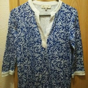Tops - Misses Jones New York Sport Floral Shirt Blouse